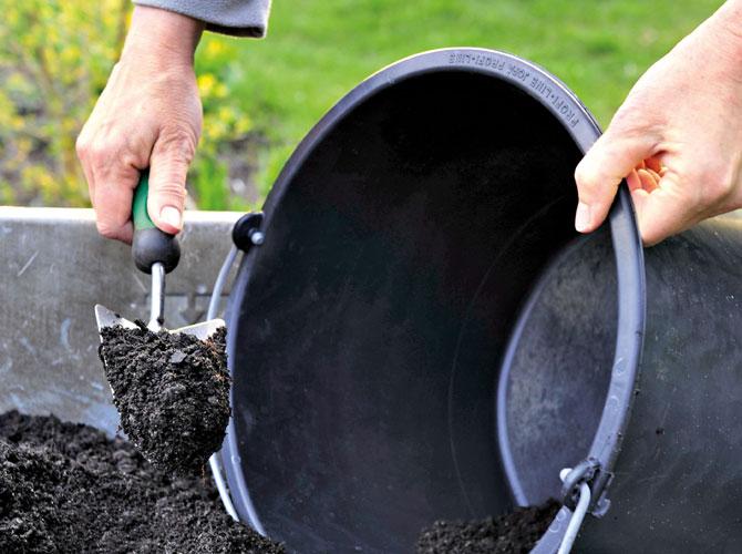 Kompostabfüllung für die Gartenpflege