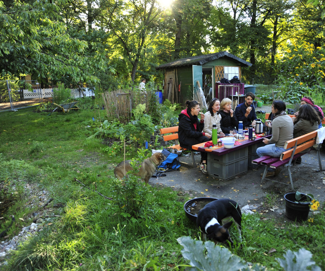 Garten mit Gemeinschaft