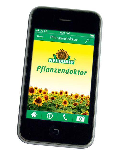 Pflanzendoktor-App auf dem Smartphone