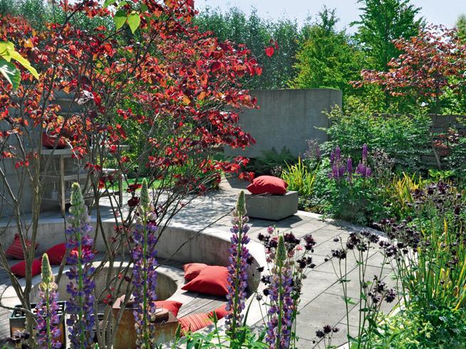 Kosten Gartengestaltung: runder Senkgarten