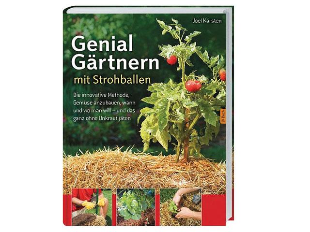 Buchcover Genial gärtnern mit  Strohballen