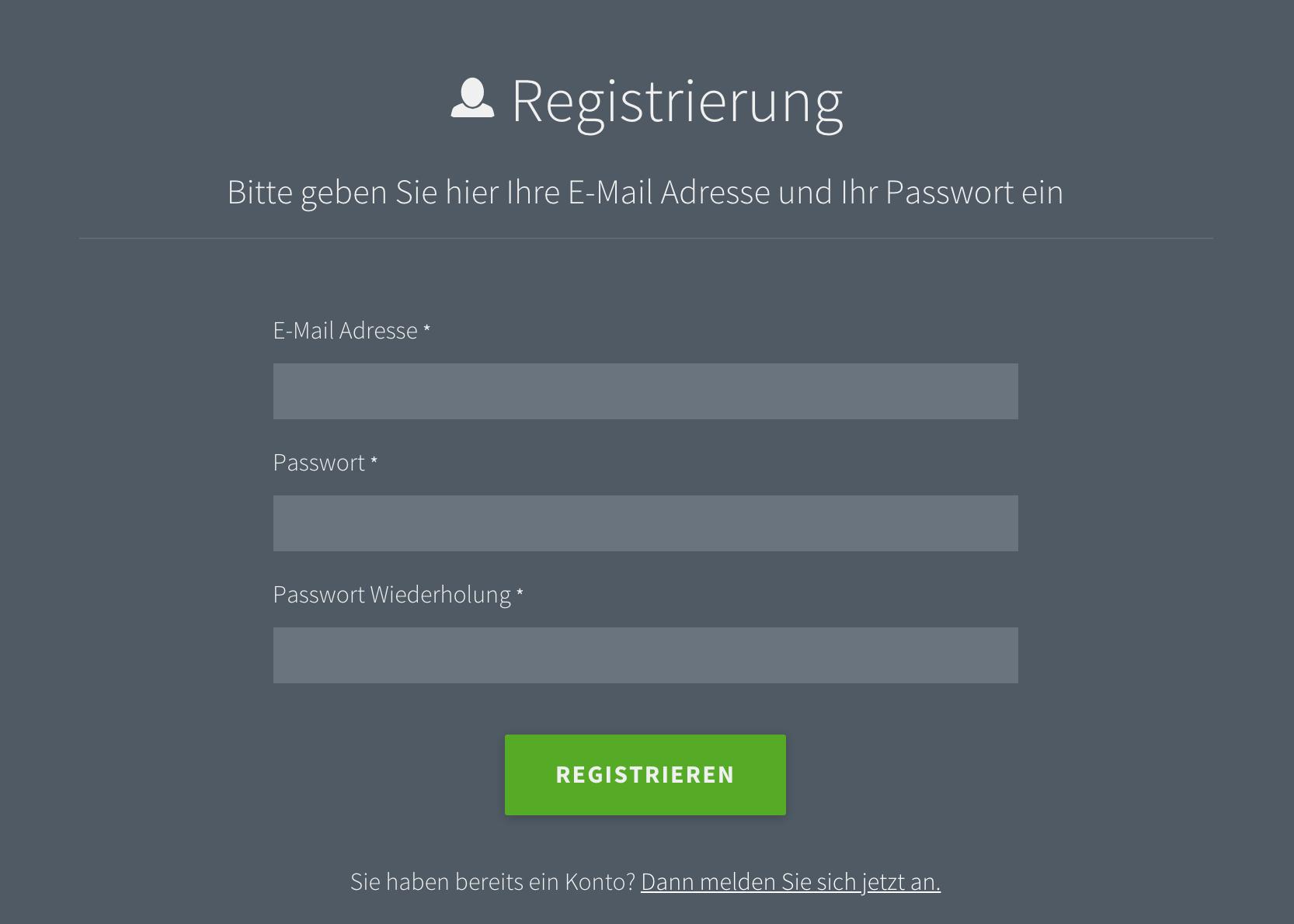 Registierung e-Paper