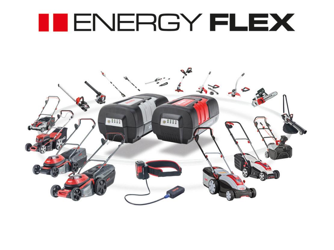 AL-KO Energy Flex Produktereihe mit Akkugeräten für den Garten