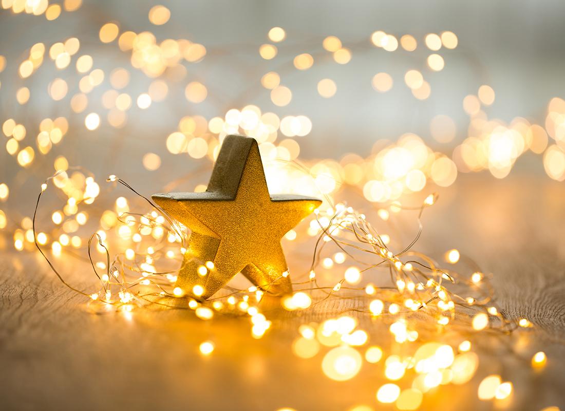 Weihnachtsstern beleuchtet Foto: AdobeStock_gitusik
